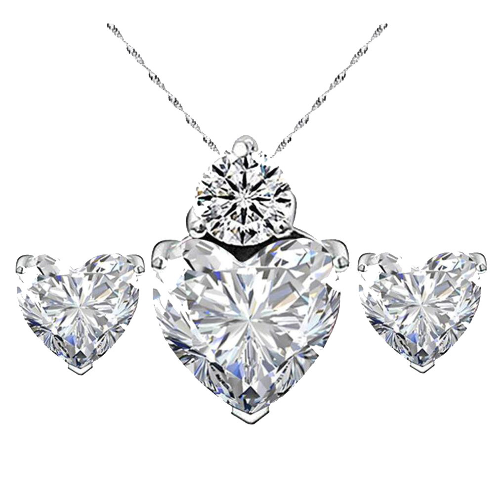 ashion Wedding Gift Jewelry Gold Color Water Drop Shape Crystal Earrings Necklace Adjustable Set Women Jewelry Sets