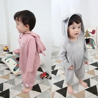 Spring 2017 Newborn Baby Girl Boy Clothes Baby Rompers Long Sleeve Cotton Sleepwear Pajamas Infant Clothing