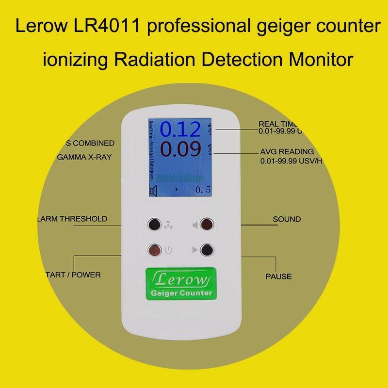 Moniteur de détection de rayonnement nucléaire de compteur de geiger professionnel de Lerow