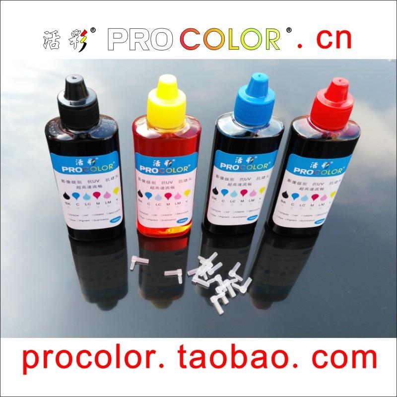 Cartucho de tinta PROCOLOR CISS Kit de recarga de tinta universal de alta calidad 100 ml de tinta adecuada para BROTHER 4 color para todas las impresoras de inyección
