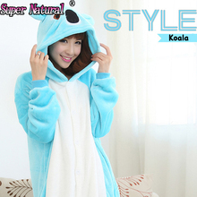 HKSNG Kiguruma Adult Winter Blue Grey Koala Mascot Footie All In One Christmas Pajamas Onesies Unisex Halloween Costume