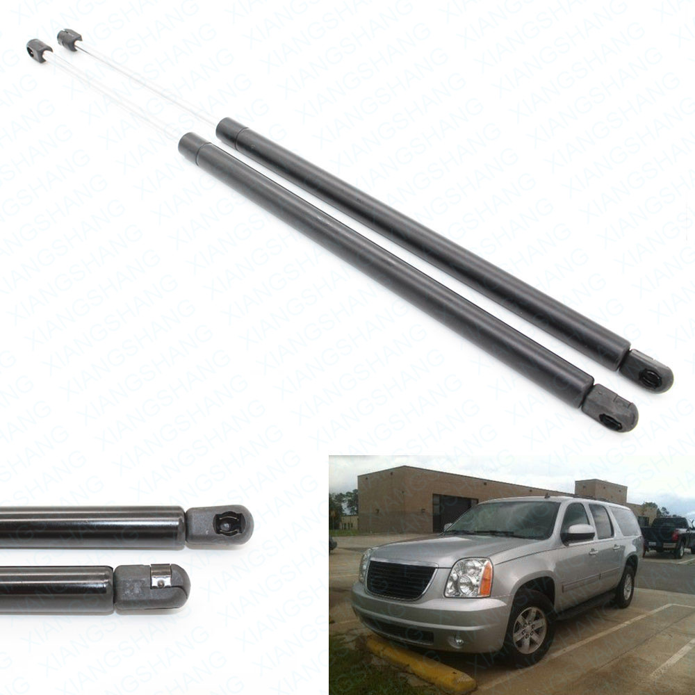 2Pcs Front Bonnet Hood Auto Gas Spring Lift Support for 2007-2013 Cadillac Escalade& Sport Utility 2007- 2013 637mm GMC Yukon