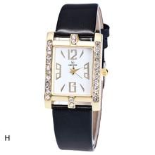 c6958003dff Mulheres Doces Cores de Couro Correia Relógios de Pulso Das Senhoras  Diamante Elegante Praça Dial relógio