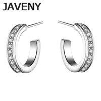 925 Sterling Silver Half Hoop CZ Cubic Zirconia Womens Girls Wedding Bridal Earrings Birthday Christmas Gift 6pcs Lots Wholesale