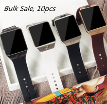 Bulk sale 10pcs Smart Watch Support SIM TF Card Bluetooth Wristwatch for Android IOS Smart Cellphone Camera Pedometer BT Call