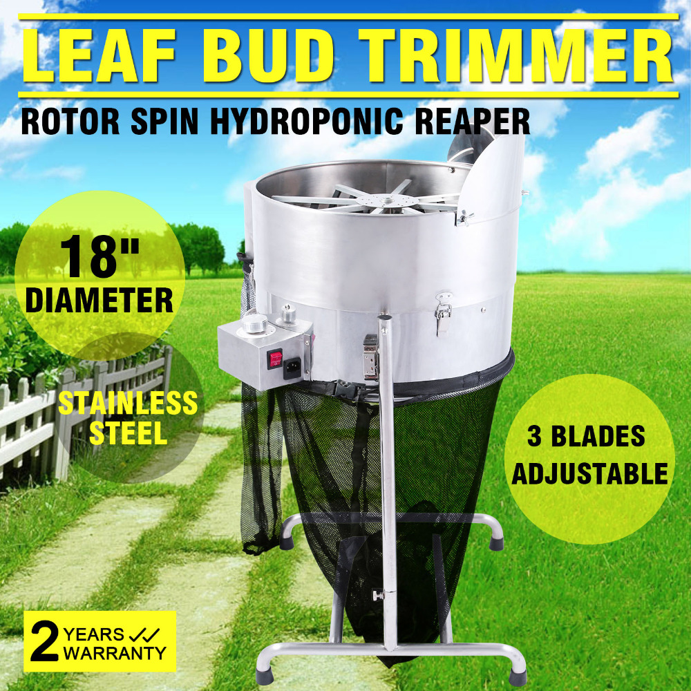 """18/"""" Stainelss Hydroponic Leaf Bud Trimmer Rotor Spin Bud Trim Reaper 3 speed"""
