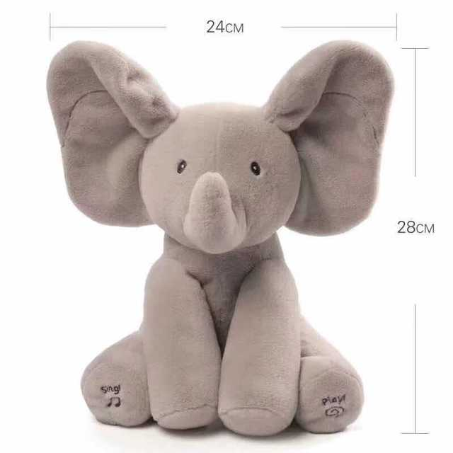 Hot Sale Elephant Music Animated Doll Stuffed Animal Toy Children Gift Baby Music Toy Ears Flap And Move Funny Birthday Toys