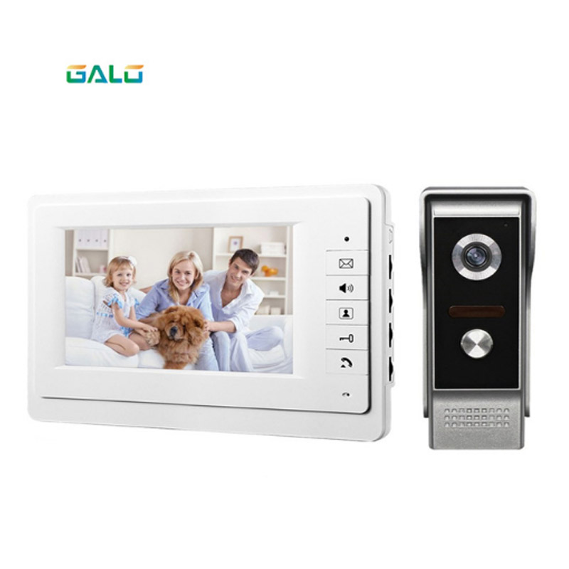 2019Video Door Phone For Villa Outdoor Intercom Night Vision 7inch Indoor Monitor Waterproof Doorbell Camera 1v1 Intercom System