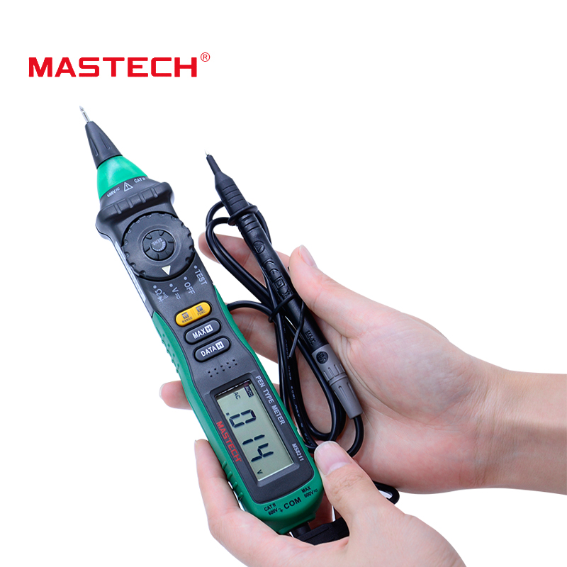 MASTECH MS8211 non contact  Pen-type Digital Multimeter Non-contact AC Voltage Detector Auto-ranging Test Clip free shipping mastech ms8211 portable pen type multimeter meter auto range digital multimeter non contact ac dc voltage detector