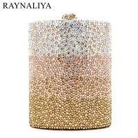 Women Diamond Wedding Party Wine Pot Clutches Hadnbag Perfume Bottle Crystal Evening Clutch Purse Gold Bag SMYZH-E0143