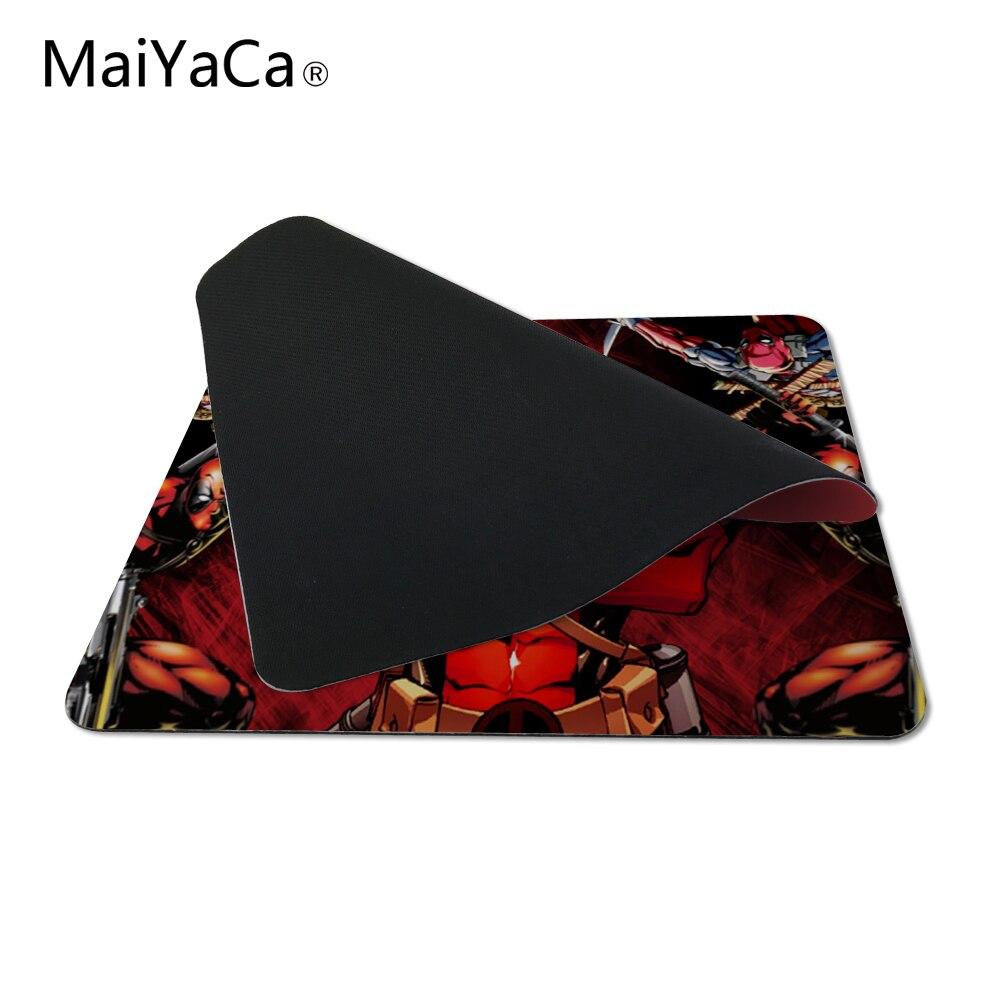 MaiYaCa модные Новое поступление 2017 года Дэдпул Marvel поклонников роскошные печати противоскользящим портативных ПК Мышь Pad груза падения