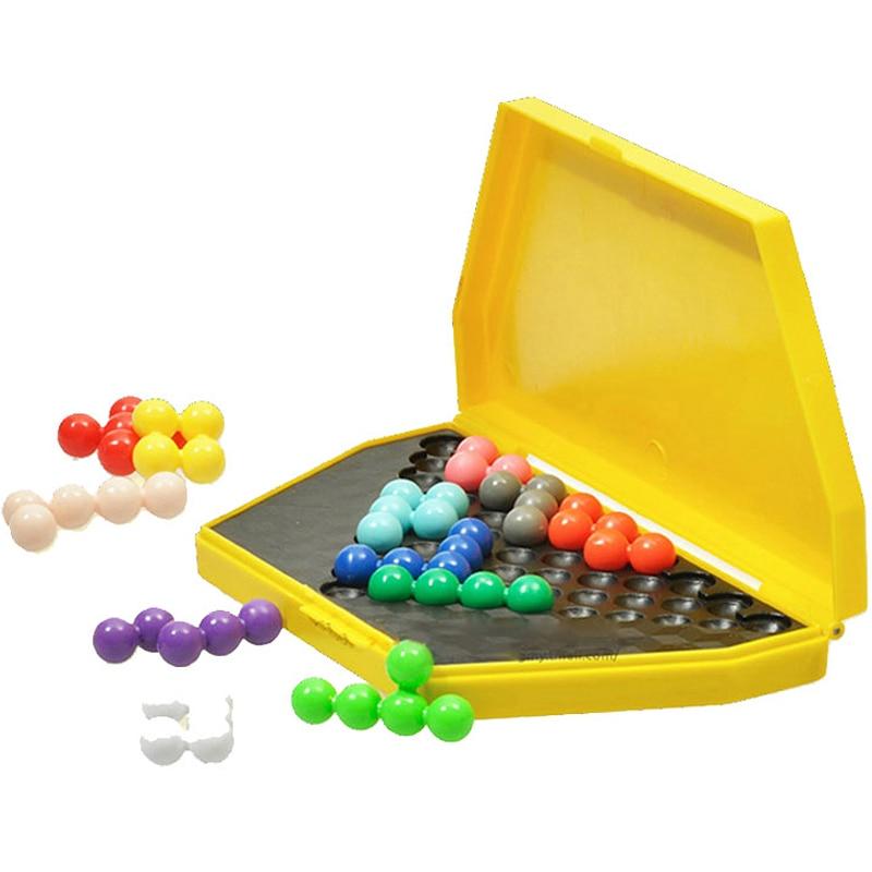 High Quality Logic Puzzle Kids IQ Brain teaser Beads Puzzles font b Game b font font