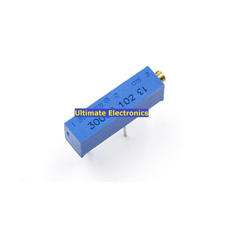 10pcc 3006P potenziometro regolabile potenziometro di precisione multi-turn 3006 potenziometro 1K 500R 100R 50K 10K 5K 2K 20K 100K 1M 200R 200K ..