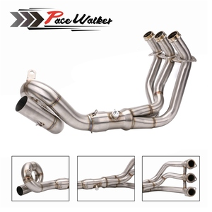 Motorcycle Exhaust Modified Scooter Front Pipe Slip-On Full System For yamaha FZ-09 MT-09 MT 09 2014-2018 not for Tracer