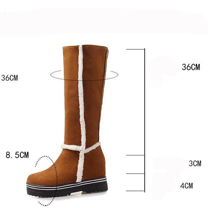 3bd944f2e De Botas Calzado Mujer amarillo Zapatos Plataforma Beige Piel Bota Cuña  Invierno negro Nieve Ocultos qadd5v