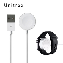 hot deal buy wireless magentic charger for apple watch charger 2m/6.5ft usb charging cable dock for apple watch series 1&2&3 38/42mm version