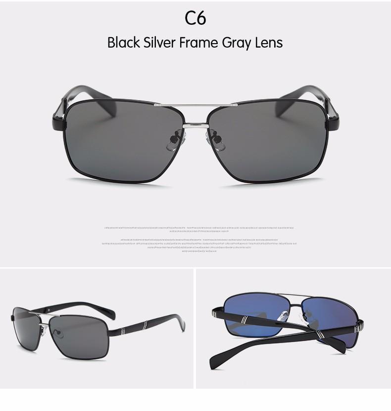 DIDI breit platz männer polarisierten sonnenbrillen metallrahmen ...
