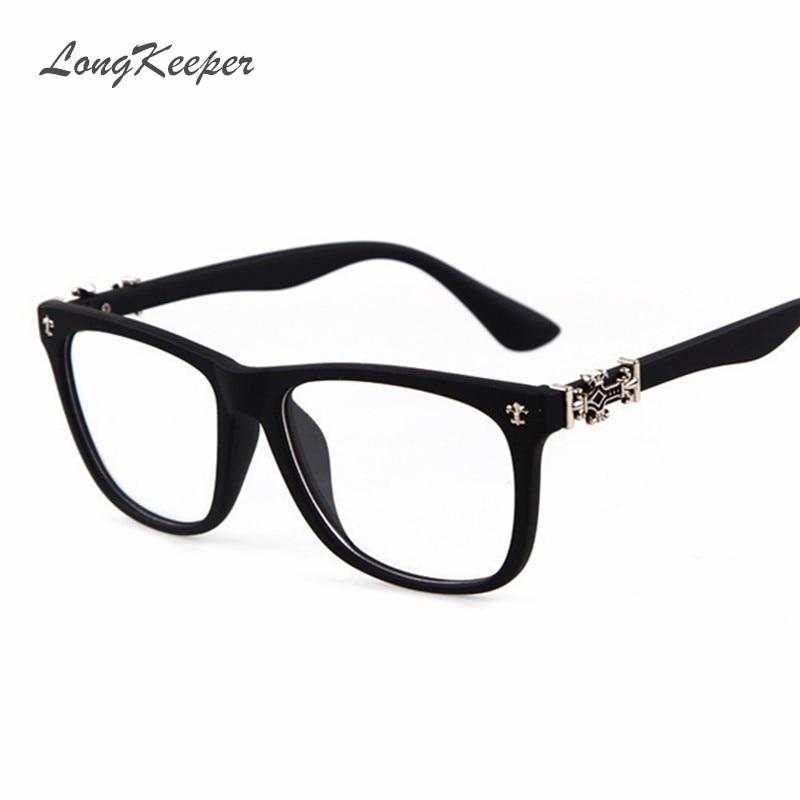 LongKeeper Vintage Gafas de Mujer Marco Cuadrado Gafas Ópticas Marco Retro Clear Lens Eyewares para Mujer Gafas de grau 603