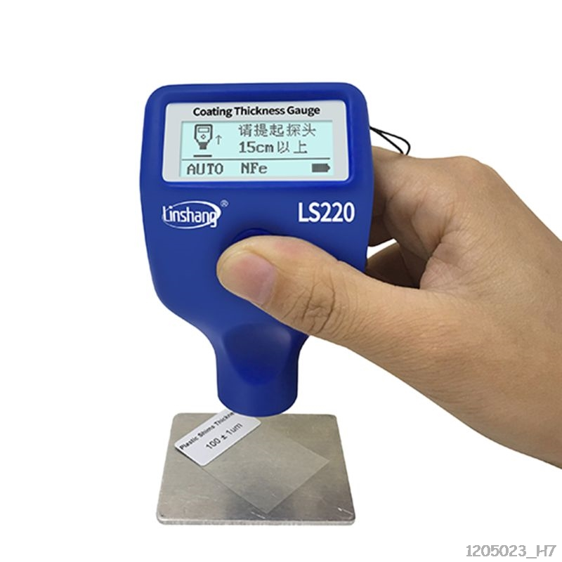 Paint Coating Thickness Tester 0-2000 0.1 Fe NFe Probe Gauge LS220 For Auto Car