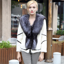 Women Winter Real Rabbit Fur Jacket 2018Female Natural Fur Real Rabbit Fur Coat Printing Coat With Hood Raccoon Fur