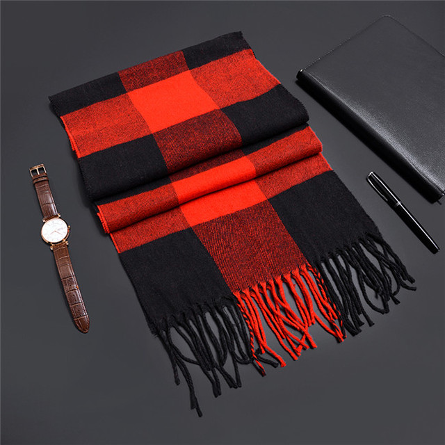 2018 Autumn Winter Unisex Cashere Men Scarf Foulard Plaid Male Scarves Fashion Casual Design Scarfs Men Luxury Bufandas Hombre