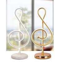 25W Modern Golden Music Note Bedroom LED Desk Lamp Artistic Home Living Room Bedside Decoration Night Light