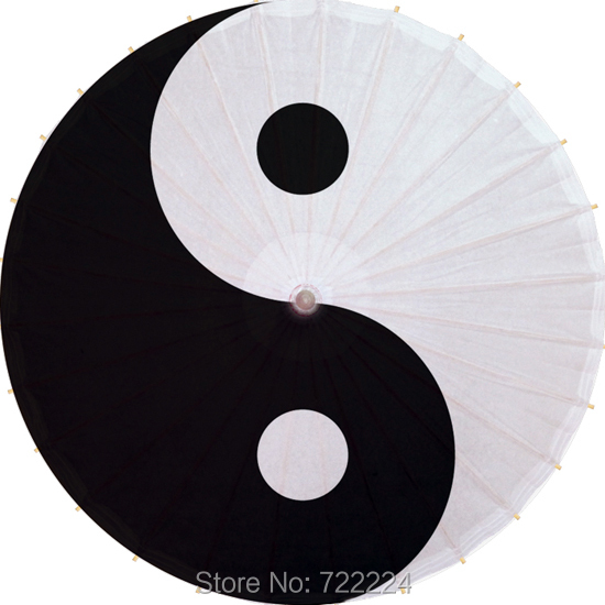 Dia 84cm Chinese Religious Totem Taoist Yin and Yang gossip pattern Waterproof Parasol Decorition Props Oiled Paper Umbrella religious tolerance tensions between orthodox christians and muslims