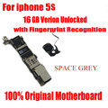 Função completa original desbloqueado motherboard mainboard com fichas para iphone 5s 16 gb bom espaço de trabalho cor cinza