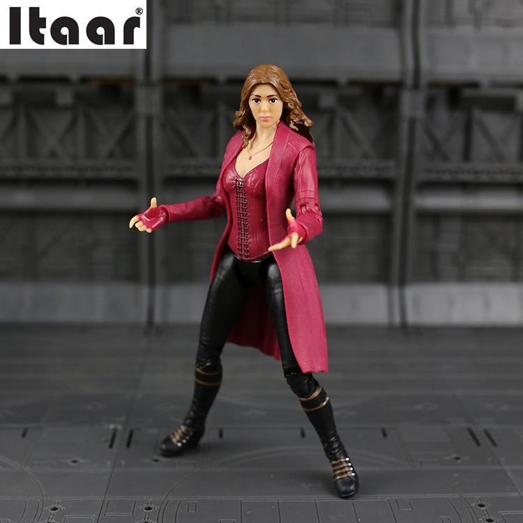 Marvel Captain America War SCARLET WITCH PVC Action Figure Collectible Model Toy marvel captain america civil war scarlet witch black panther winter soldier falcon pvc action figure collectible model toy