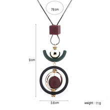 Match-Right Trendy Women Trendy Geometric Wooden Necklaces & Pendants Statement Necklace for Women Jewelry SP212
