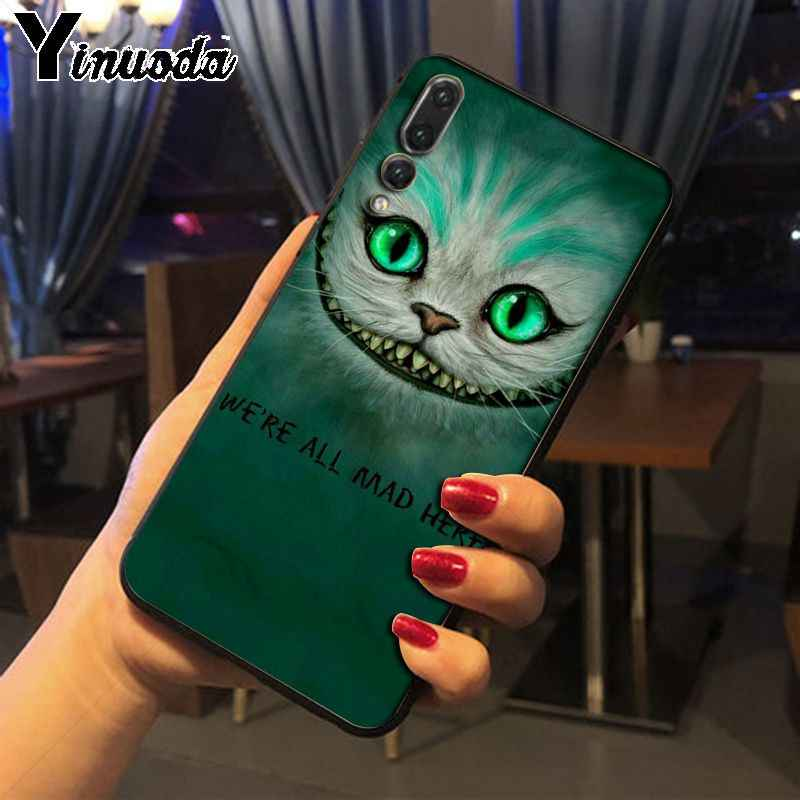 Yinuoda Alice in Wonderland Cheshire Cat phone case cover for Huawei P20pro mate10 p9 p10plus honor8x 7A nova3i mate20lite funda
