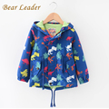 Bear Leader Kids Jackets 2016 Children Clothing Outerwear&Coats Boys Clothes Hooded Dinosaur Pattern Print Casual Windbreaker