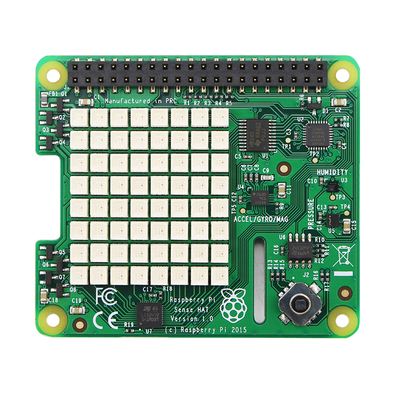 Official Raspberry Pi 3 Sense HAT With Orientation Pressure Humidity And Temperature Sensors Humidity Sensors