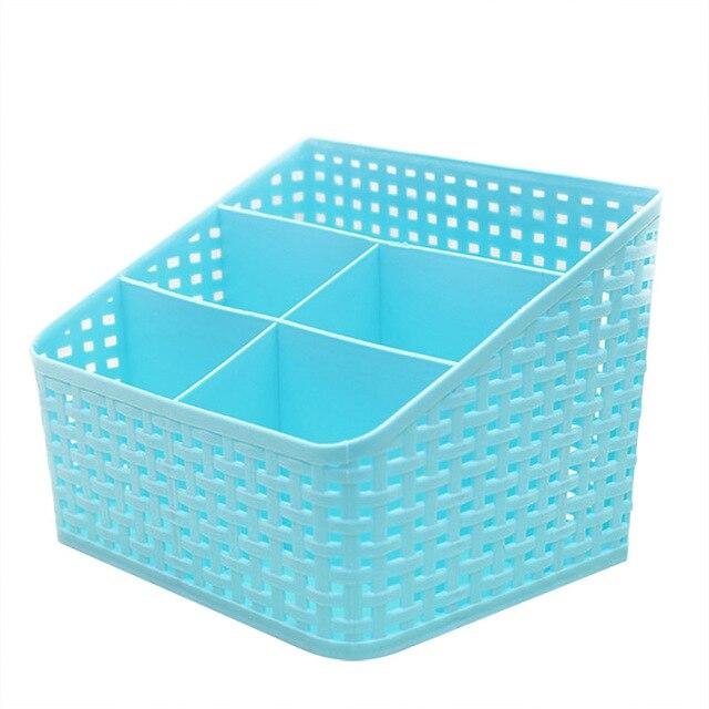 Imitation rattan multi-compartment storage box cosmetics desktop remote control debris classification storage box  sc 1 st  AliExpress.com & Imitation rattan multi compartment storage box cosmetics desktop ...