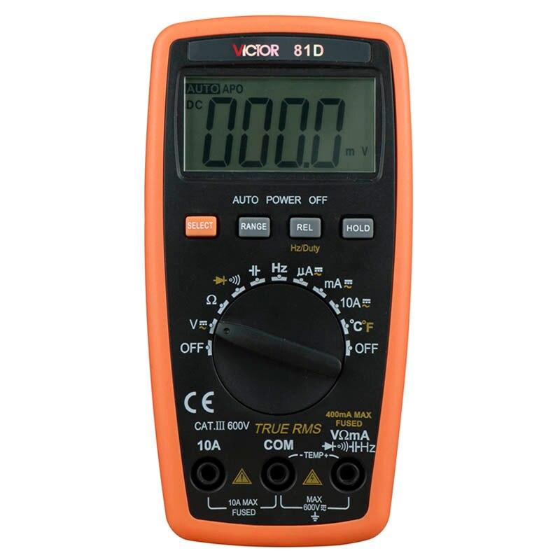 Digital multimeter Auto Range VC81D 3 3/4 can measure auto-range temperature / frequency measurement digital multimeter victor vc9808 3 4 auto range temperature test streamline design