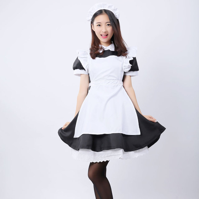 Umorden Alice in Wonderland Costume Lolita Dress Maid Cosplay Fantasia Carnival Halloween Costumes for Women 4
