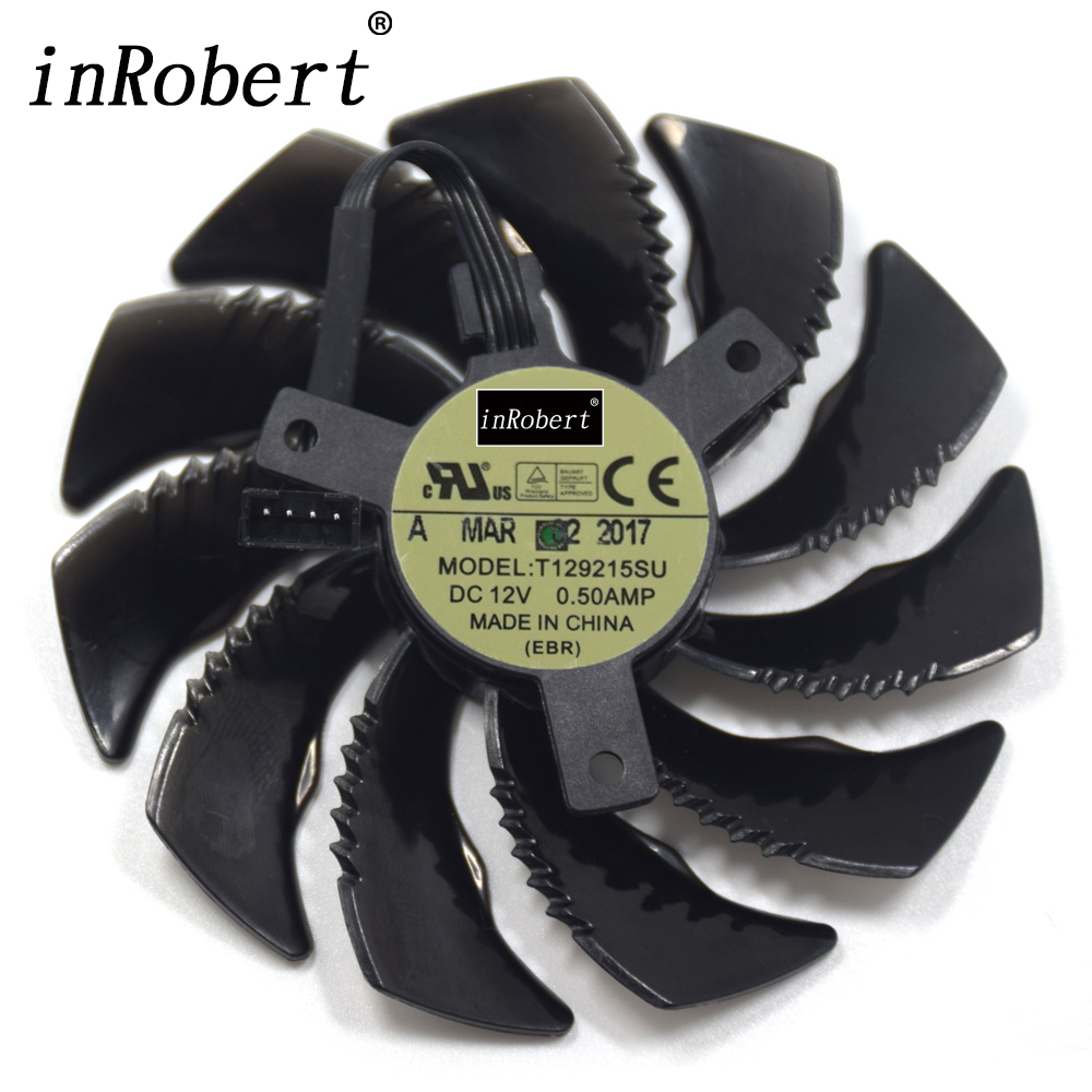 88MM T129215SU PLD09210S12HH 4Pin Cooling Fan For Gigabyte <font><b>GTX</b></font> 1050 1060 1070 <font><b>960</b></font> RX 470 480 570 580 Graphics Card Cooler Fan image