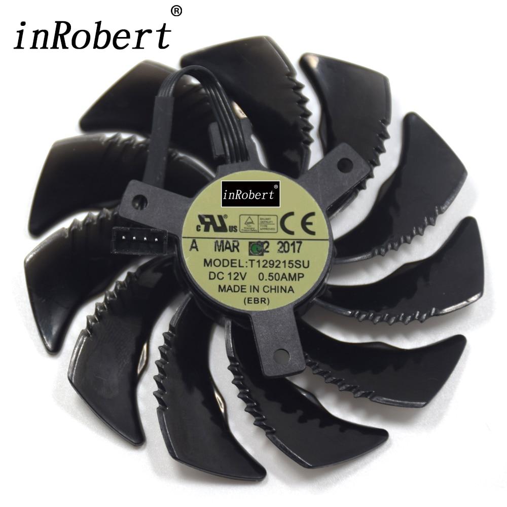 Nuevo T129215SU 88mm ventilador para reemplazar Gigabyte Geforce GTX 1050 1050TI 1060 1070 1070TI G1 Radeon RX 570 580, 470 Ga mi ng mi
