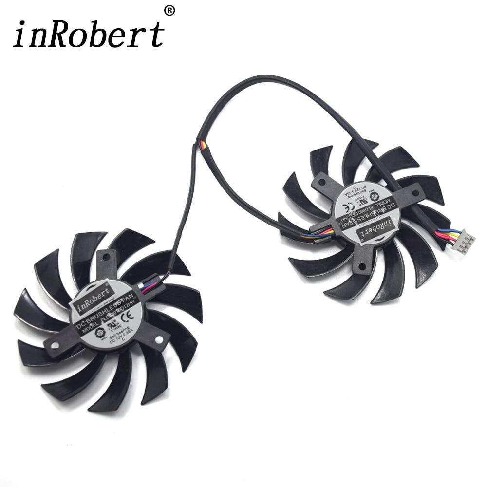 Power Logic 75mm PLD08010D12HH PLD08010S12HH Cooler Fan For MSI GTX 460/480/560/570/580/R5850/6790/6850/6870/6950 Gracphics Card neue computador lufter ersatz twin frozr ii msi r7770 hd 7770 n460 n560 gtx graphics grafikkarte fans pld08010s12hh