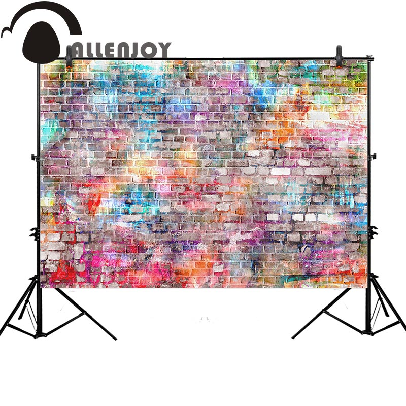 Allenjoy photography studio funds graffiti brick wall colorful watercolor fashion background photobooth printed professional платье кассандра d'imma fashion studio