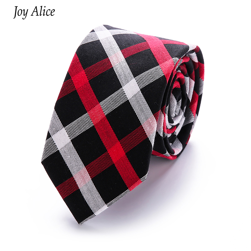 módní styl vysoce kvalitní kostkované pánské bavlněné tkaniny lněné tkaniny kravata 6cm hubená kravata značka 2018 gravata slim drop shipping