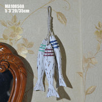 Vintage Fish Strings Mediterranean Hanging Wall Decal Marine Nautical Decor 3D Stickers Decorations Crafts