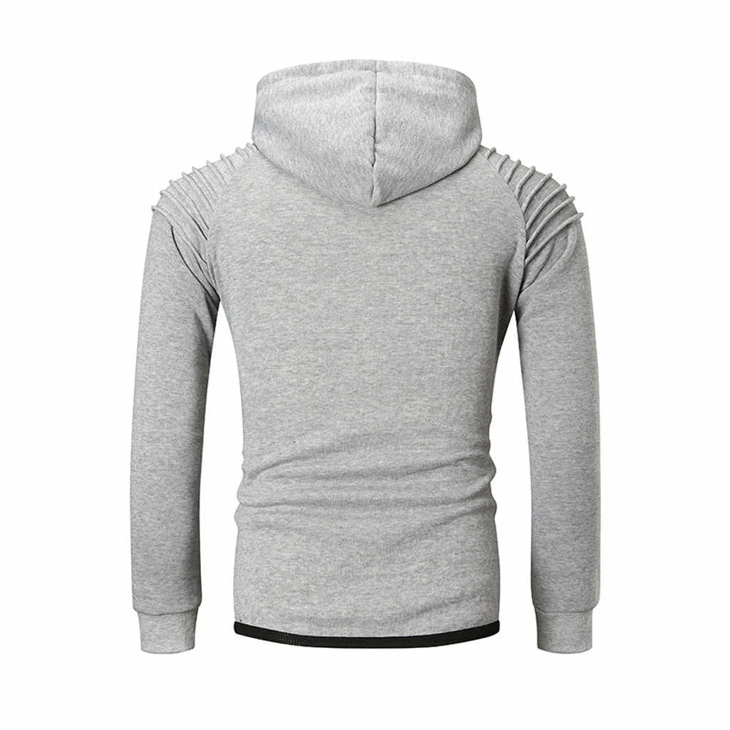 CHAMSGEND männer mode schwarzen zipper langarm mit kapuze pullover lose beiläufige warme sweatshirt street dance sport training hemd