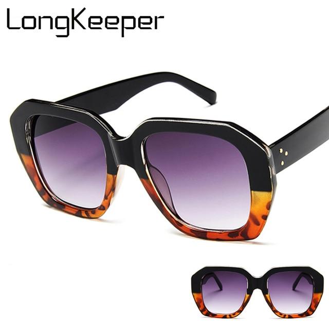28e212f6fe Wholesale Square Vintage Oversized Sunglasses Women Fashion Brand Designer  Black Sun Glasses Ladies Shades UV400 Gafas low price