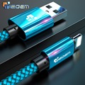 Tiegem USB Cable For iPhone 7 8 6 5 6s S plus X XS MAX XR Cable Fast Charging Cable Mobile Phone Charger Cord Usb Data Cable 3M