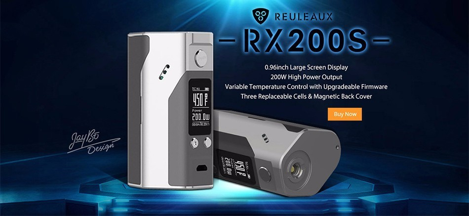 100% Original Wismec Reuleaux RX200S TC 200W OLED Screen Box Mod with Upgradeable Firmware Reuleaux RX200S-10