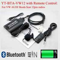 Yatour Bluetooth MP3 Player BTA With Remote Control For VW AUDI Skoda Seat 12PIN Radios