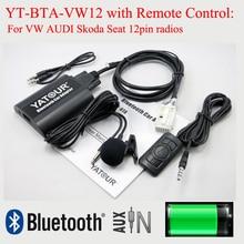 Yatour bluetooth mp3-плеер бта с пульт дистанционного управления для vw audi seat skoda 12pin радио