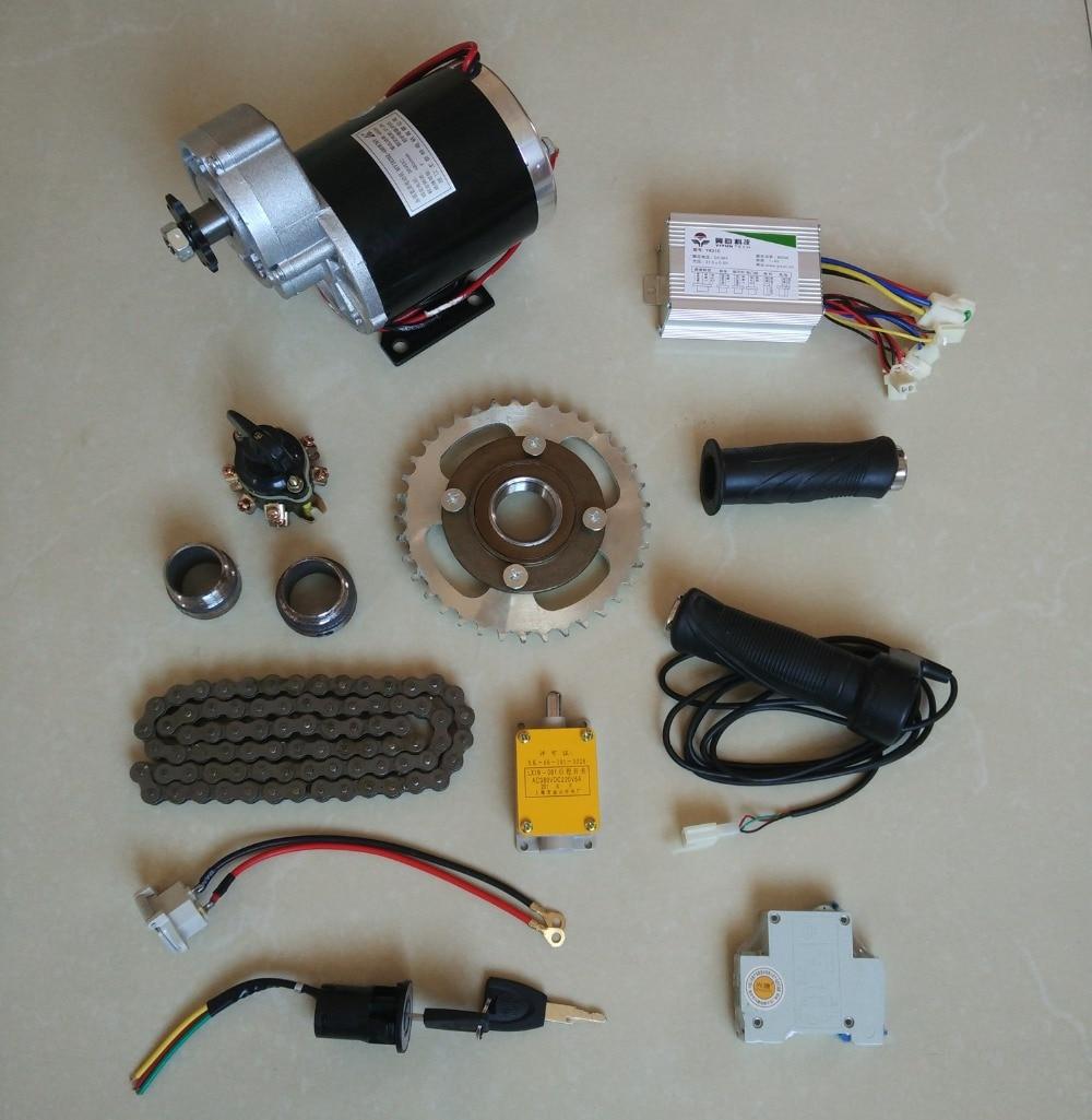 цена на DC 24V 450W MY1020Z brush motor kit , electric bicycle kit ,Electric Trike, DIY E-Tricycle, E- Trishaw Kit