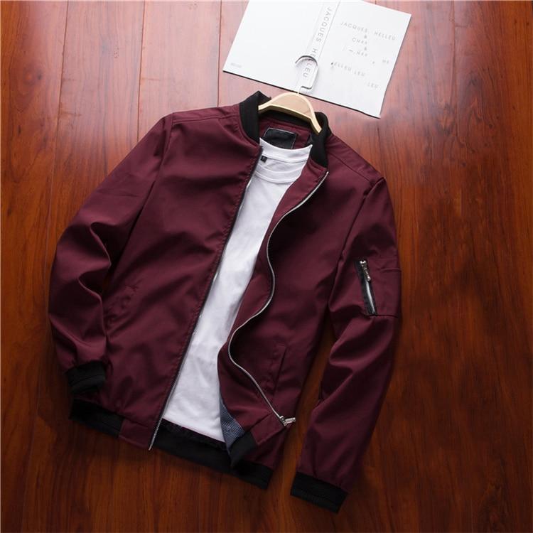 Men's Bomber Zipper Casual Streetwear Hip Hop Slim Fit Pilot Coat Men 23